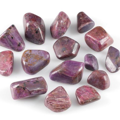 July Birthstone Color - Tumbled Ruby Gemstones