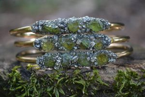 Raw Peridot August Birthstone Bracelet