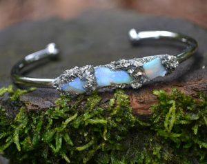 Australian Opal Cuff October Birthstone Bracelet