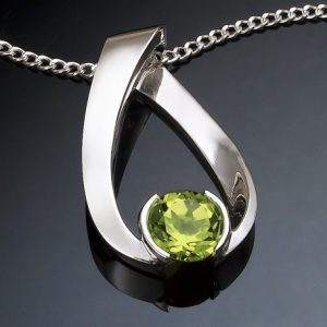 Artisan Peridot August Birthstone Necklace