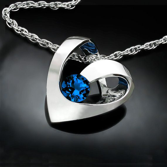 Silver and Blue Sapphire September Birthstone Jewelry