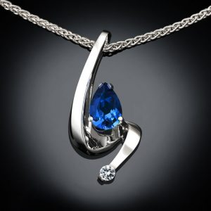 Blue Sapphire Silver September Birthday Jewelry