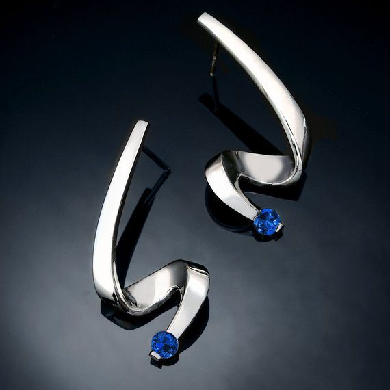 Blue Sapphire Silver September Birthstone Jewelry