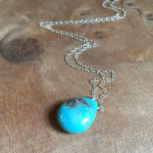 Natural Turquoise December Birthstone Pendant