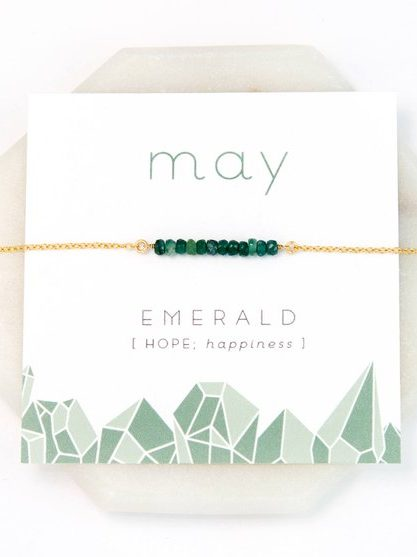 May Birthstone Necklace Gift Card