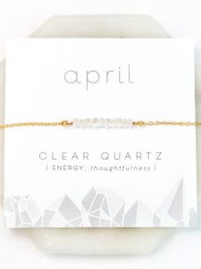 April Birthstone Necklace Gift Card