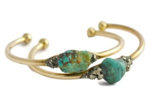 Natural Turquoise December Birthstone Bangle