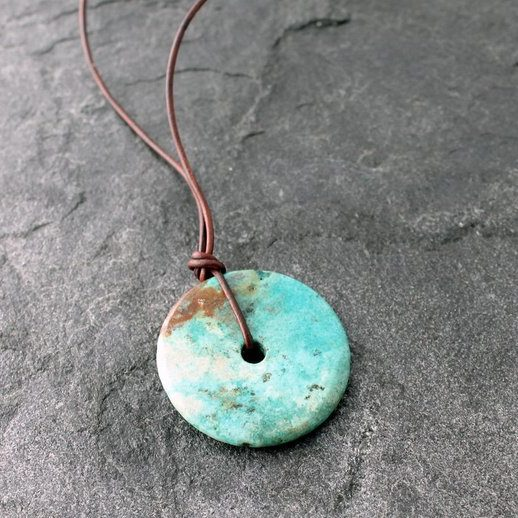 Turquoise and Leather December Birthstone Jewelry