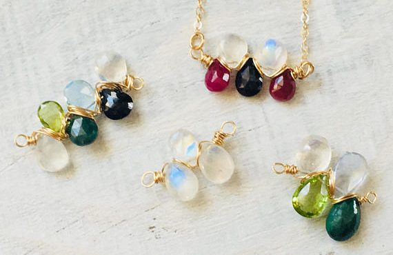 Custom Mothers Birthstone Necklaces
