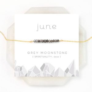 June Birthstone Necklace Gift Card