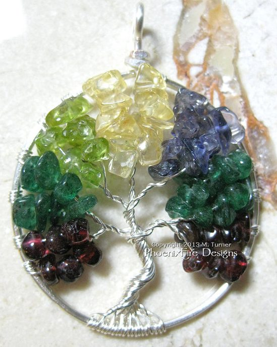Custom Mothers Birthstone Pendant