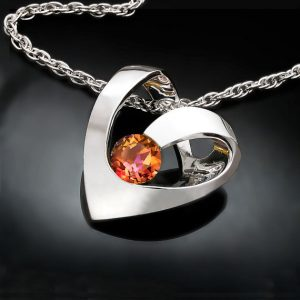 Mystic Topaz Heart November Birthstone Necklace