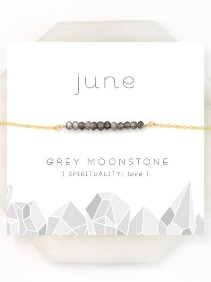 June Birthday Card - Moonstone Birthstone