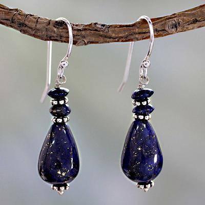 September Birthstone Earrings - Lapis Lazuli