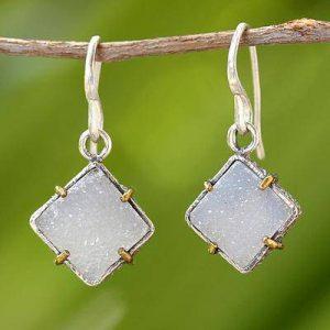 Quartz Birthstone Earrings