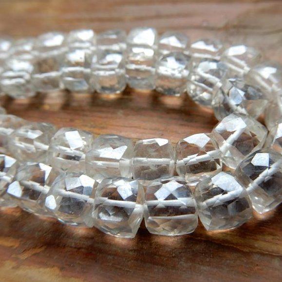April Birthstone Color - Clear Quartz Beads