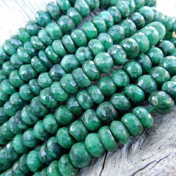 May Birthstone Emerald Beads