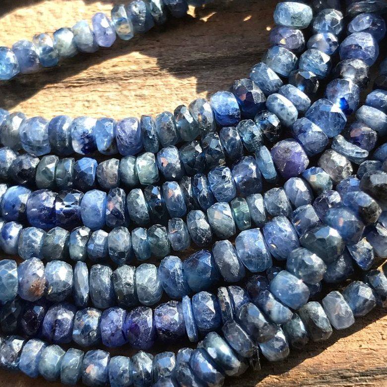 September Birthstone Sapphire Beads