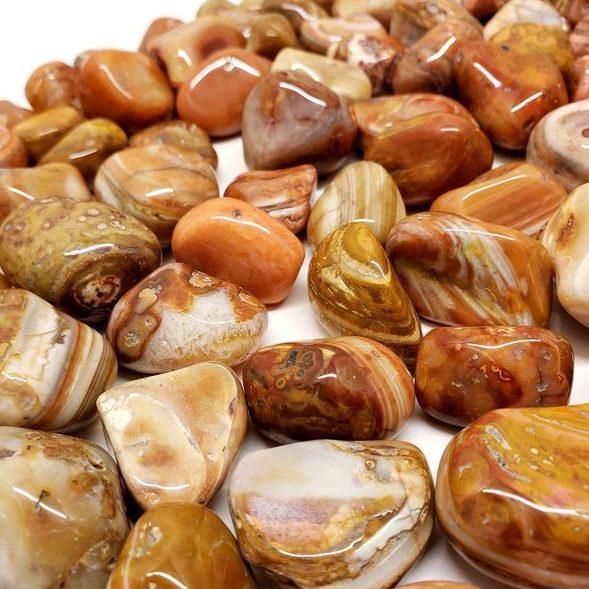 Alternative August Birthstone Tumbled Sardonyx Stones
