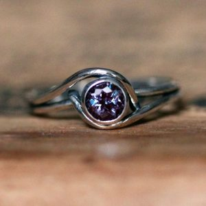 Handmade June Ring with Alexandrite