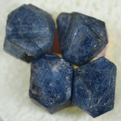 September Birthstone Color Deep Blue Rough Sapphire Stones