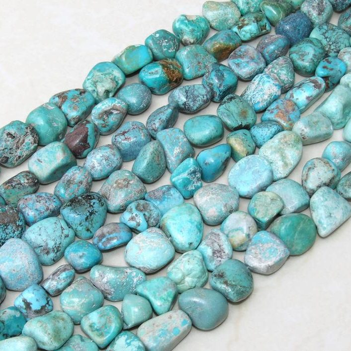 December Birthstone Color Blue Raw Turquoise Crystal
