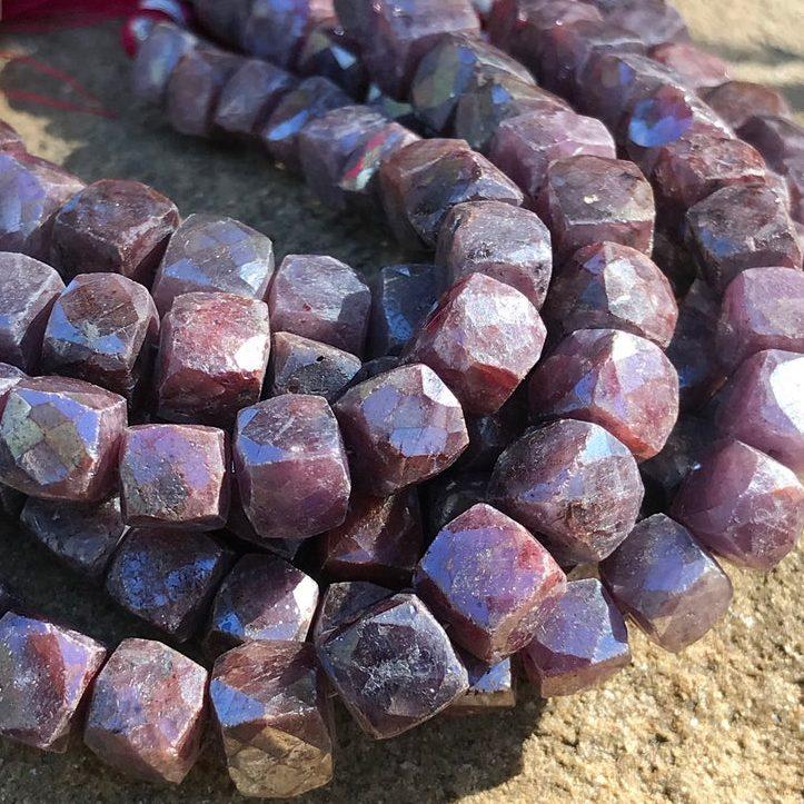 July Birthstone Ruby Beads
