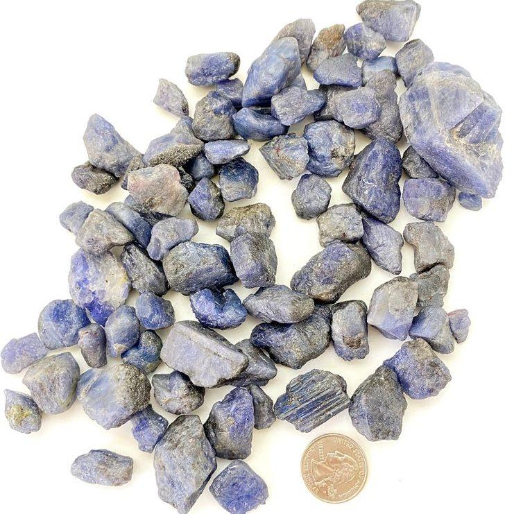 Raw Tanzanite Crystals