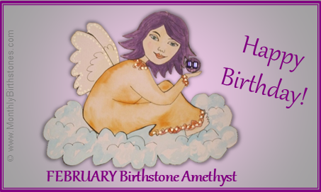 February Birthday eCard - Birthstone Angel