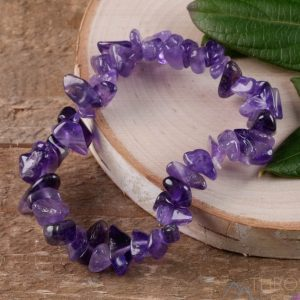 February Gemstone Bracelet - Amethsyt Chips