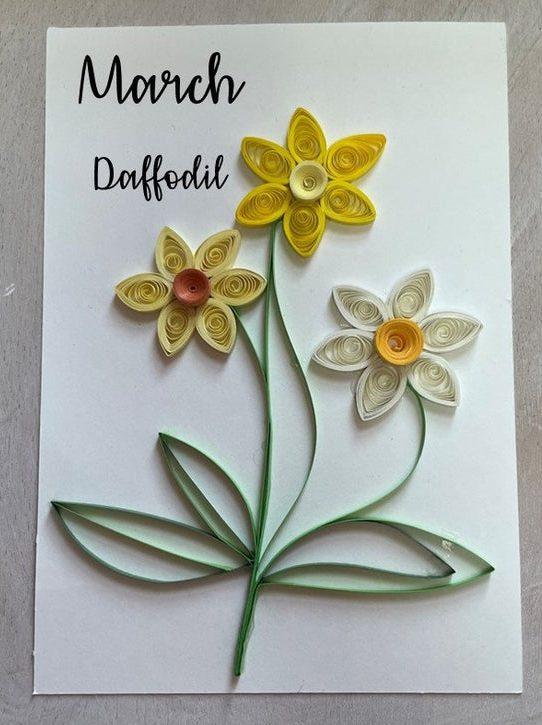 March Birthday Flower Daffodil