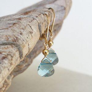 March Birthstone Earrings - Dangle