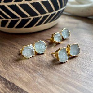 March Birthstone Earrings - Studs