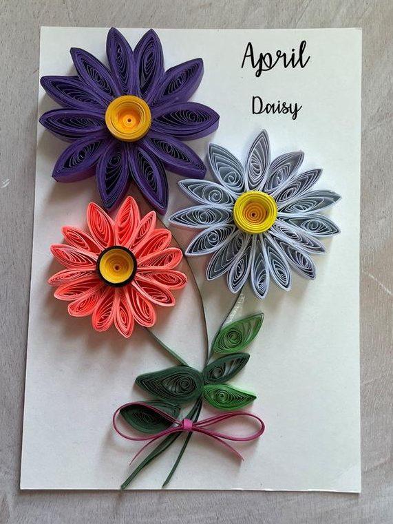 April Birthday Flower Daisy