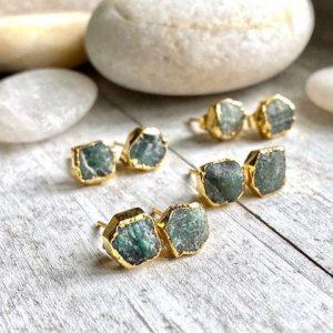 Emerald Birthstone Earrings - May Birthday
