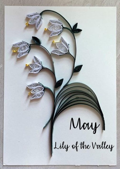 May Birthday Flower Lily of the Valley