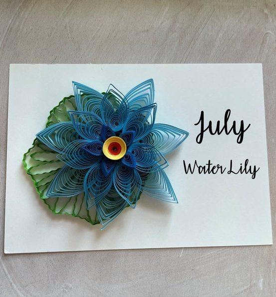 July Birthday Flower Water Lily