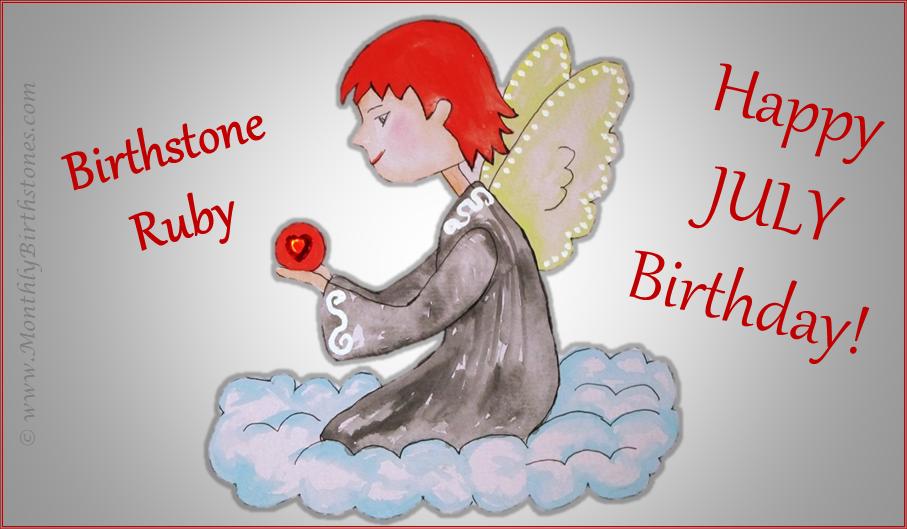 Free July Birthday eCard - July Birthstone