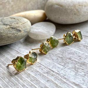 Peridot Birthstone Earrings - August Birthday