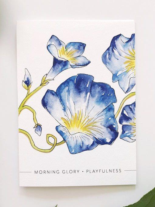 Birthday Card with September Birth Flower