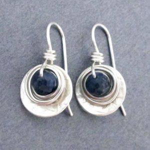 September Birthstone Earrings - Sterling Silver Dangle