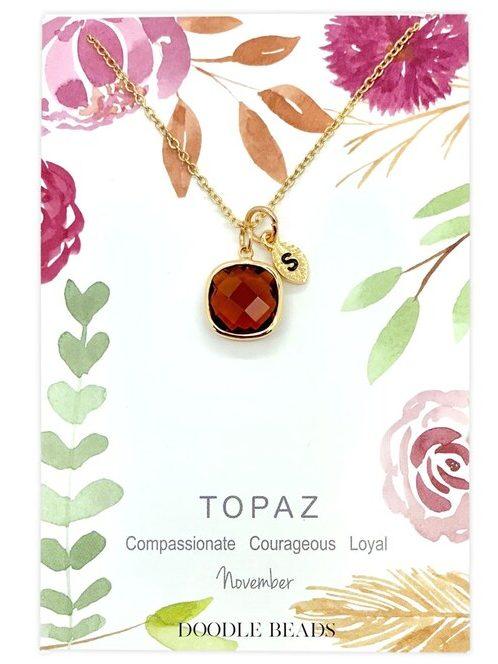 November Birthstone Necklace Card