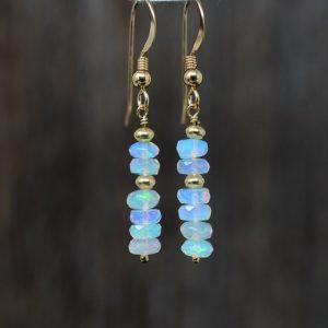 October Birthstone Earrings - Ethiopian Opal Dangle